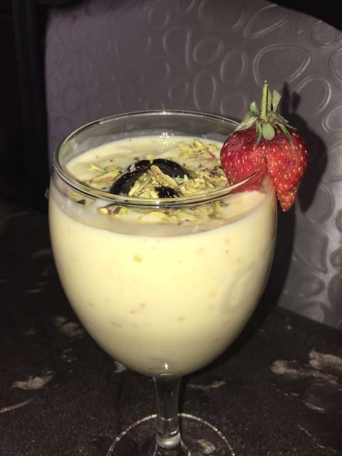 Sago Custard Milk With Nuts