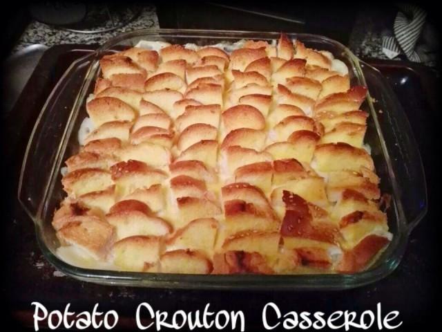 Potato Crouton Casserole