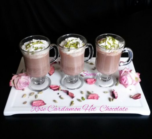 Rose Cardamon Hot Chocolate