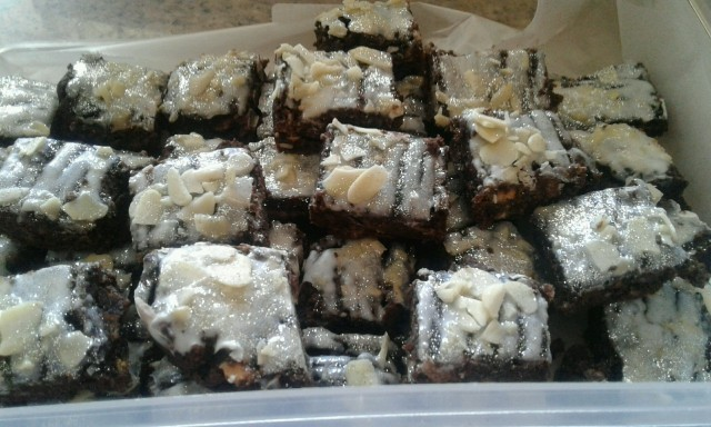 My  Chocolate  Marie Biscuit  Brownie  Squares