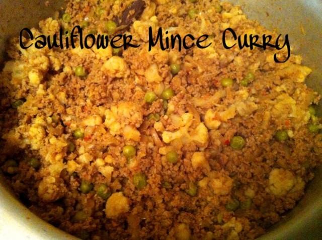 Cauliflower & Mince Dry Curry