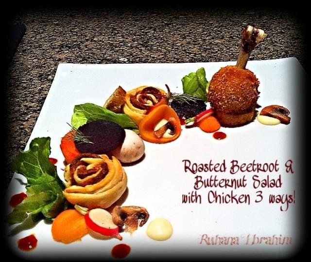 Roasted Beetroot & Butternut Salad