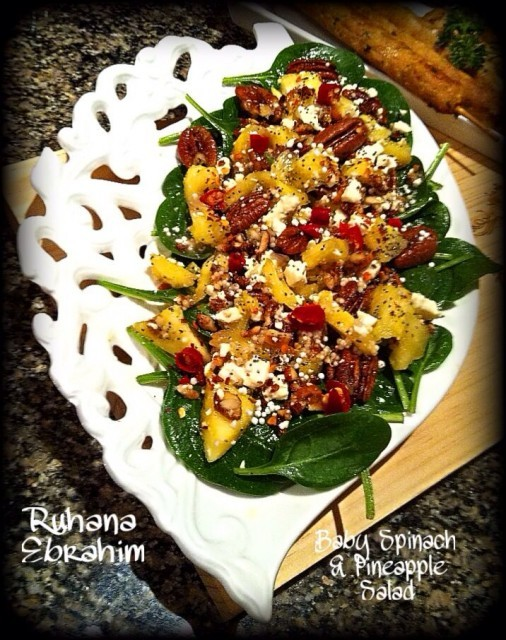 Baby Spinach Pineapple Salad