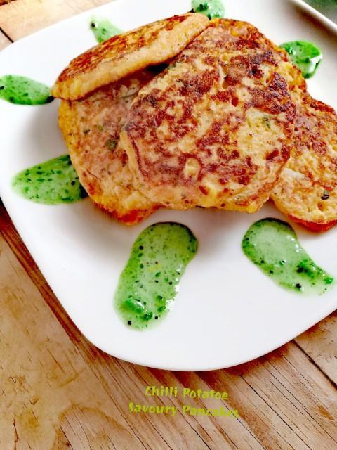 Chilli Potato Savoury Pancakes.