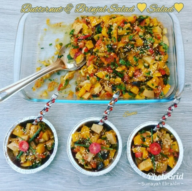 Butternut & Brinjal Salad