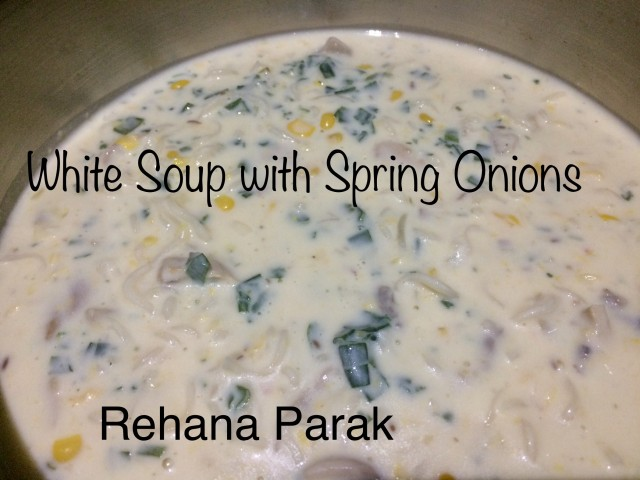 White Soup With Spring Onions