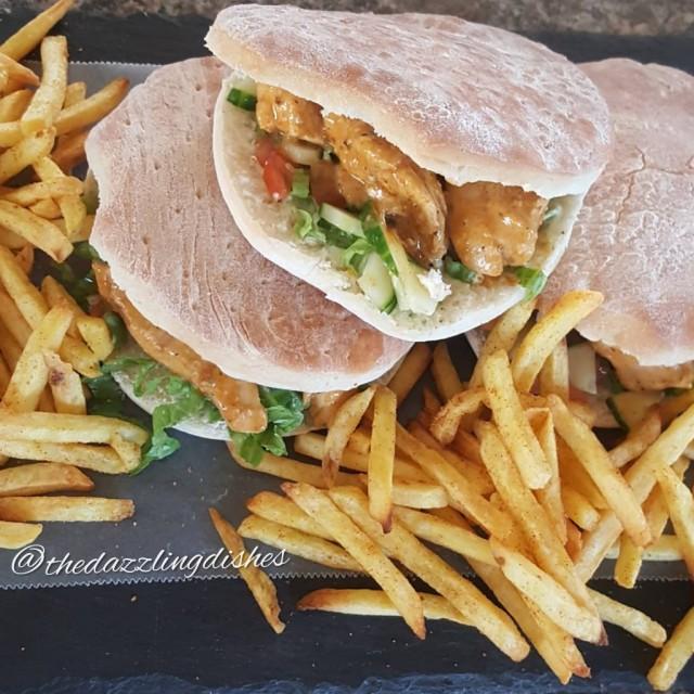 Nandos Inspired Chicken Pita