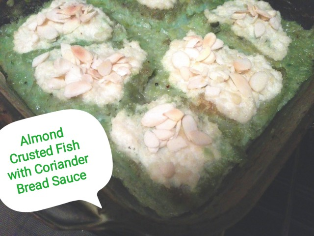 Almond Fish Cooked In Bread Sauce