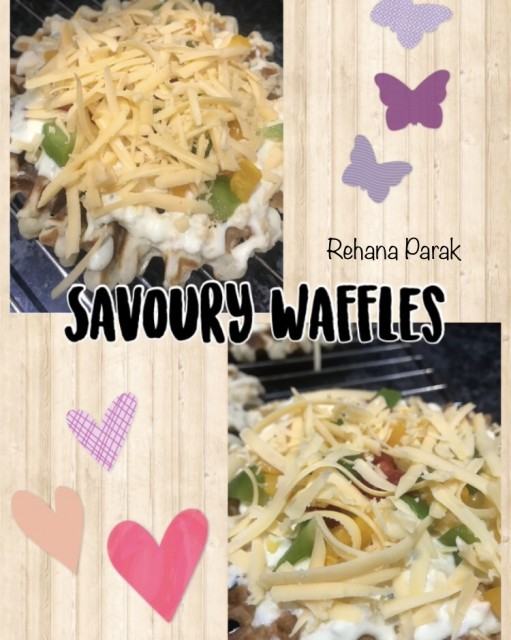 Eggless Savoury Waffles