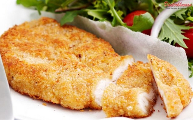 Tender And Crispy Chicken Schnitzel