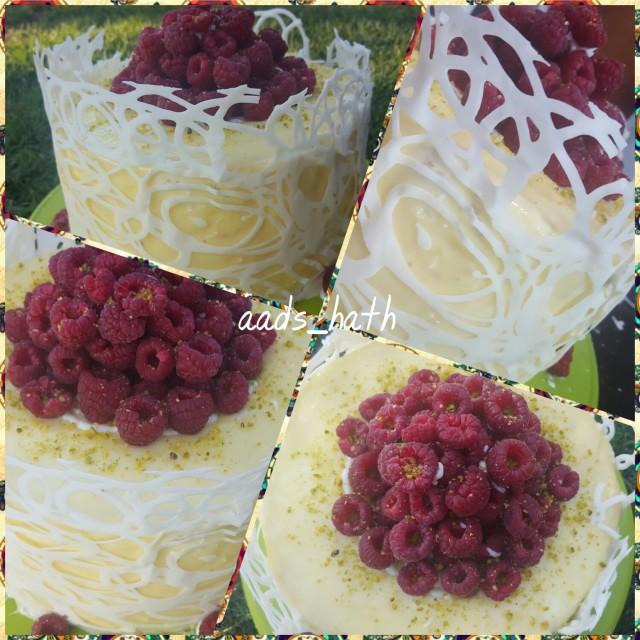 Lemon Chiffon Rasberry Gateaux