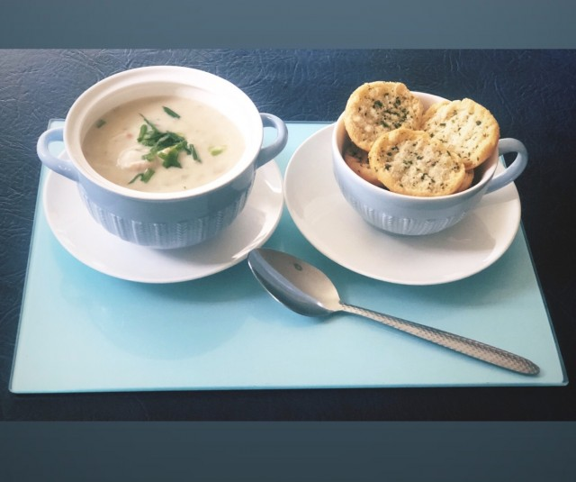 Creamy Chicken Soup (with Tinned Soup)
