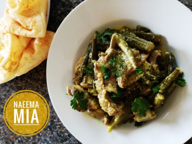Salt And Pepper Mutton With Bhindi
