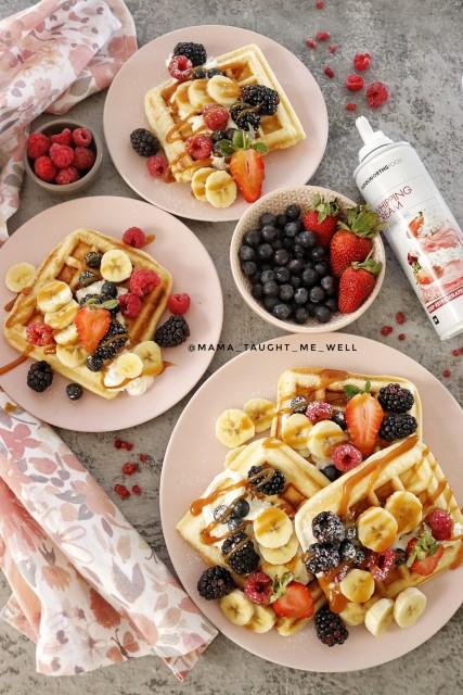 Berry & Cream Waffles