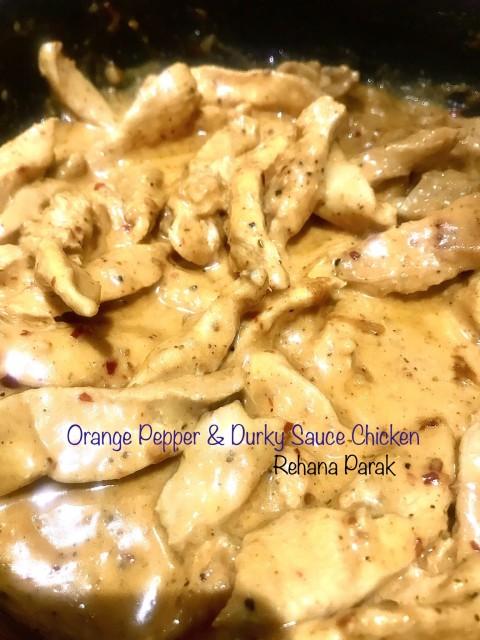 Orange Pepper Spice & Durky Sauce Chicken Strips