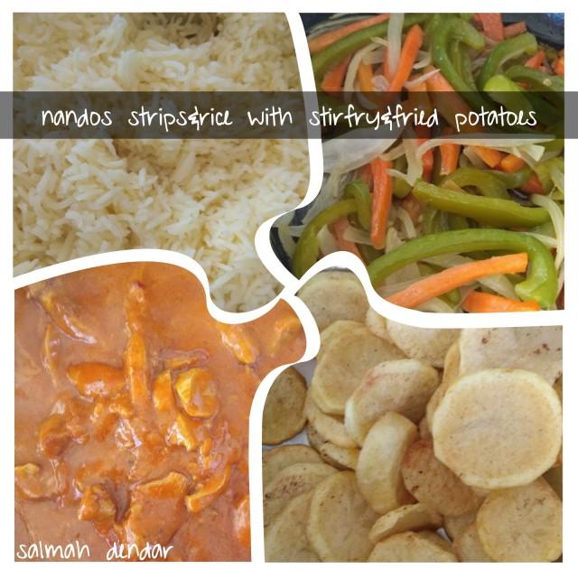Nandos Chicken Strips &rice