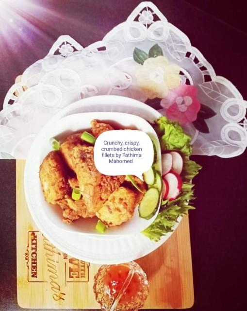 Crunchy, Crispy, Lightly Crumbed Chicken