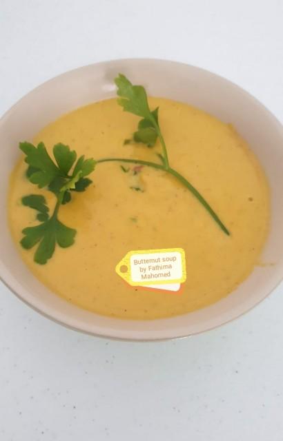 Buttenut Soup, Dallops Of Fresh Cream