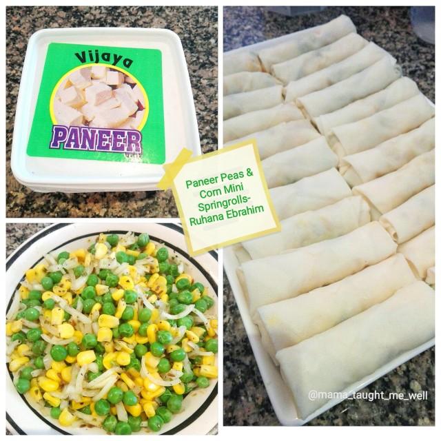 Paneer Peas & Corn Springrolls