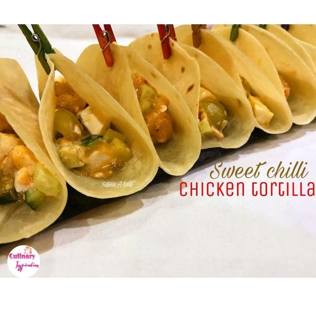 Sweet Chilli Chicken Tortillas