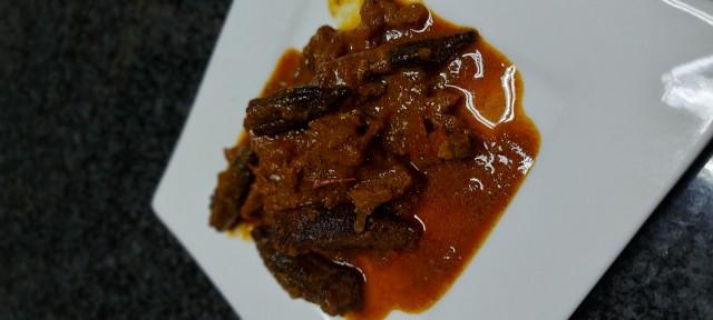 Steak And Bhindi (okra) Curry