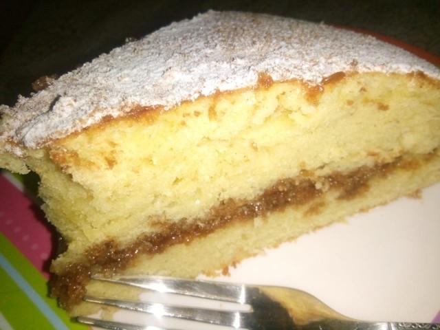 Moist Vanilla Cake With Milo Filling