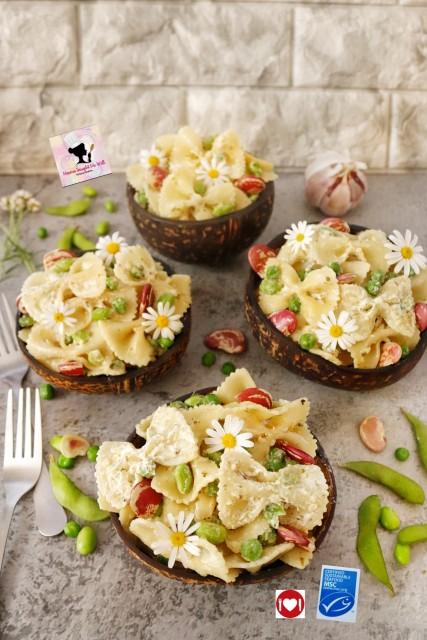 Edamame Broad Beans Peas Tuna Pasta Salad