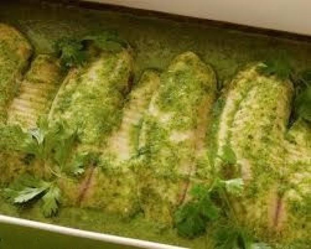 Coriander Tilapia Fish Fillet (green Chutney)
