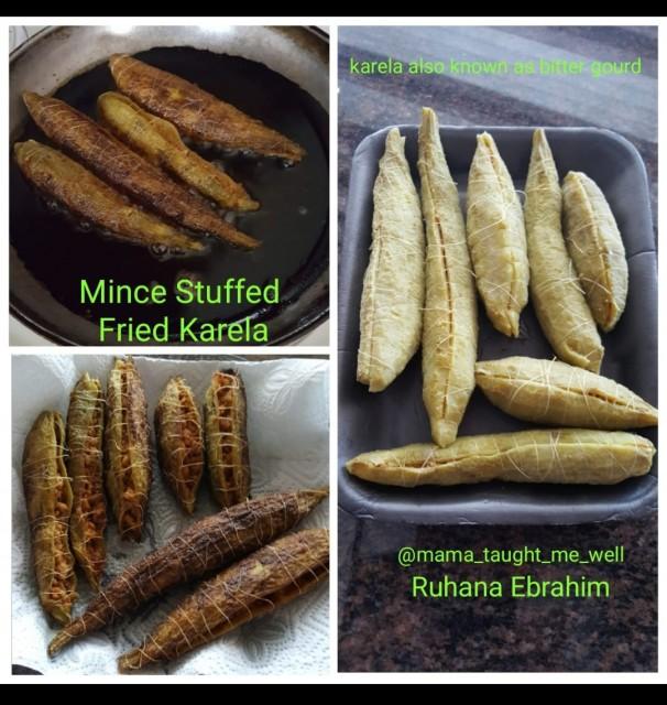 Mince Stuffed Fried Karela