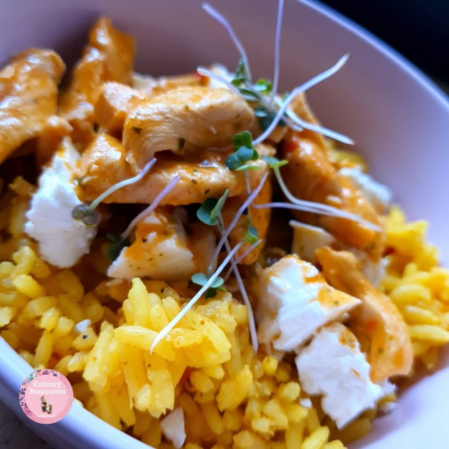 Nandos Chicken Strips And Spicy Rice