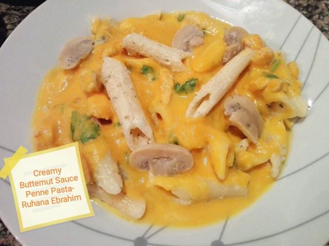 Creamy Butternut Sauce Penne Pasta