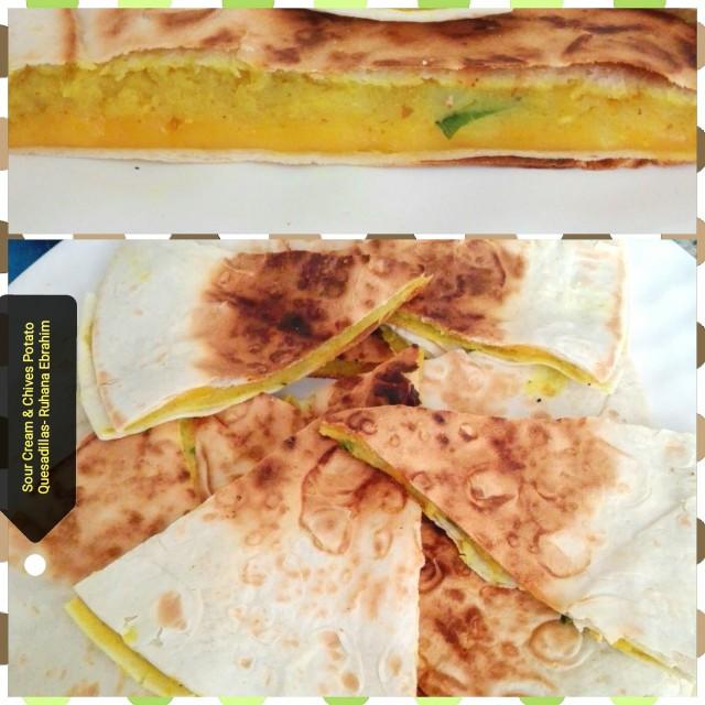 Sour Cream & Chives Potato Quesadillas