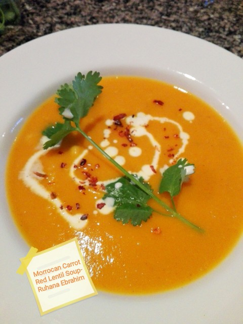 Morrocan Carrot Red Lentil Soup