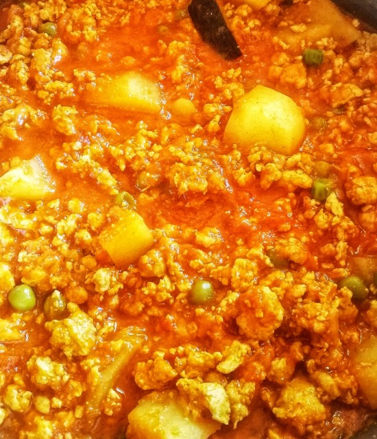 Good Old Fashioned Mince Curry And Rice
