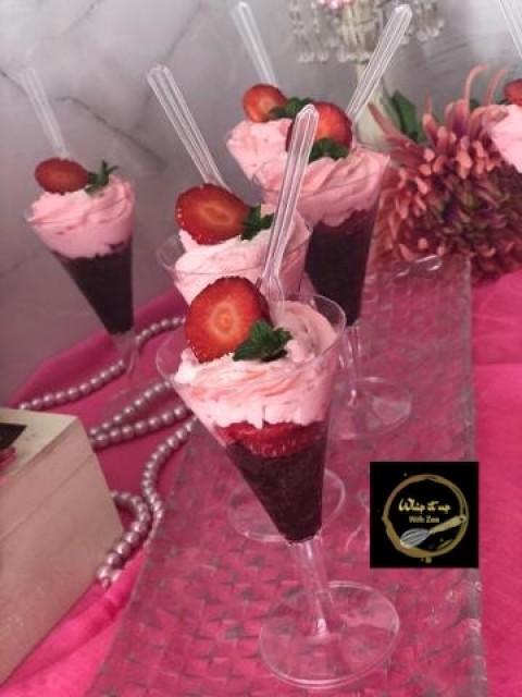 Rose ,,strawberries And Chocolate Dessert