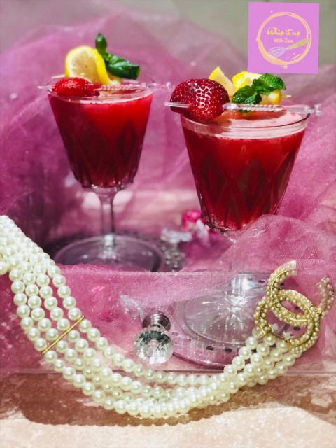Strawberry And Rose Moctail