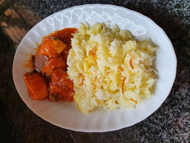 Chicken Rogan Josh And Pilaf Rice