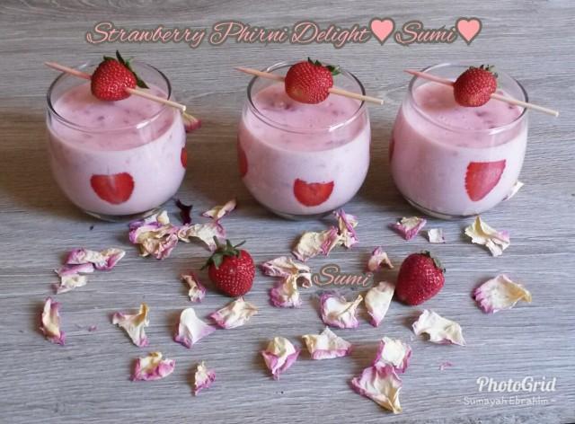 Strawberry Phirni Delight