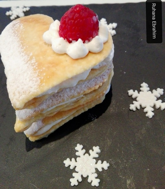 Raspberry & Cream Mille Feuille