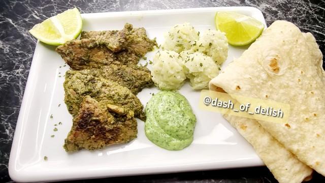 Green Masala Steaks