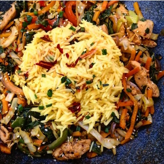 Chicken Stirfry & Rice