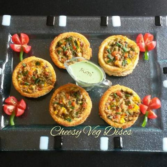 Cheesy Veg Disc's