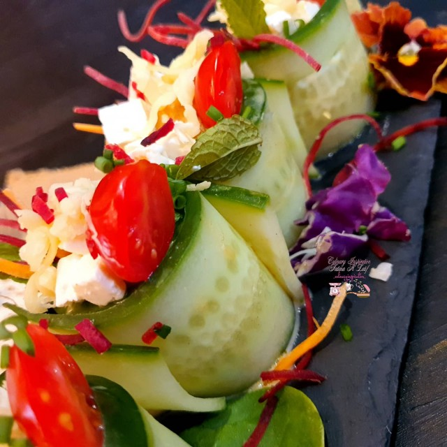 Cucumber And Chicken Salad Roll