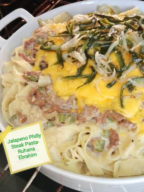 Jalapeno Philly Steak Pasta