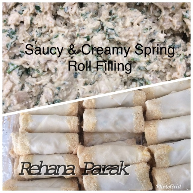 Saucy & Creamy Spring Roll Filling