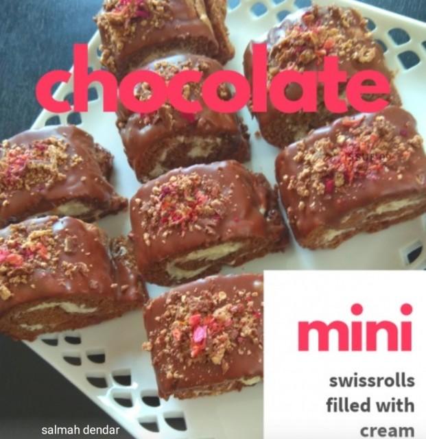 Chocolate Mini Swiss Roll