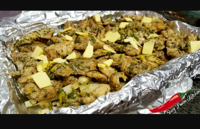 Grilled Lemon Chicken With Baked Potato Chips