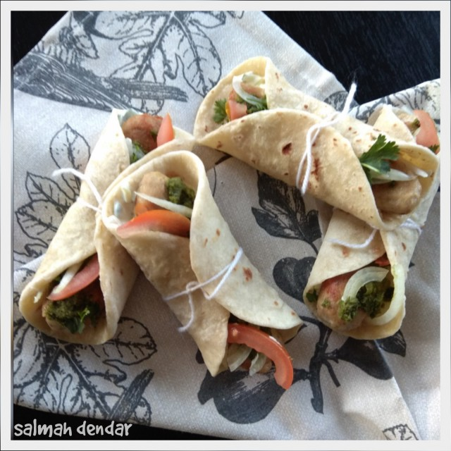 Chicken Kebab Wraps Recipe By Salmah Dendar
