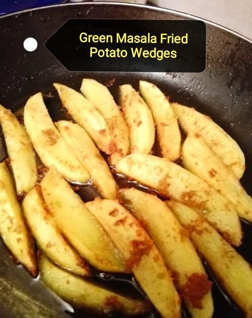Green Masala Potato Wedges