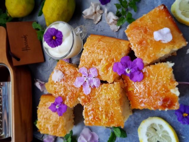 Lemon Yoghurt Cake With Lemon Syrup